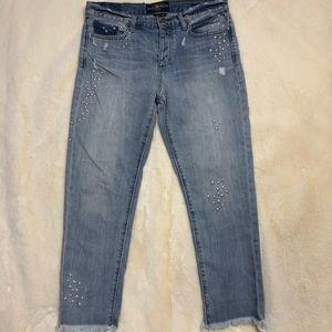 Lucky Brand Starred Boyfriend Jeans